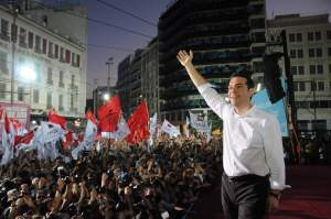 Tsipras hails victory for Syriza.