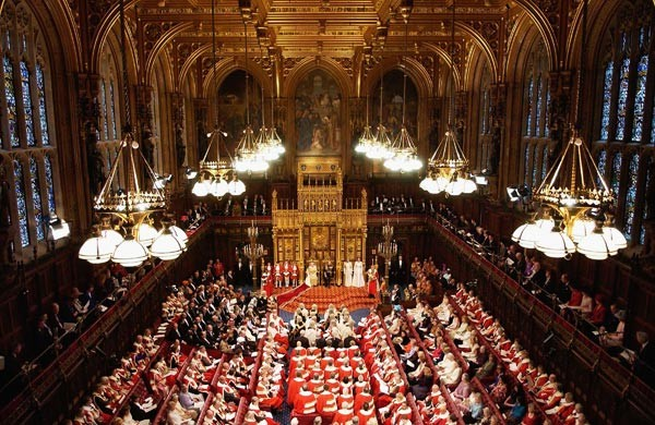 The Lord's in-session for the Queen's Speech