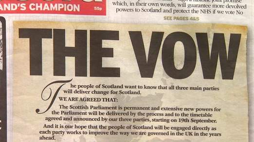 Photo of the newspaper article headline of The Vow