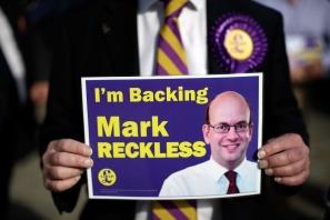UKIP Leader Nigel Farage And Mark Reckless Visit Rochester'