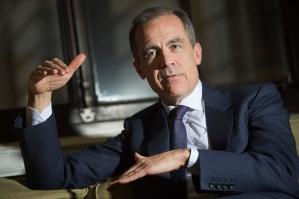 Mark Carney in conversation at the Bank of England.10th Feb 2015